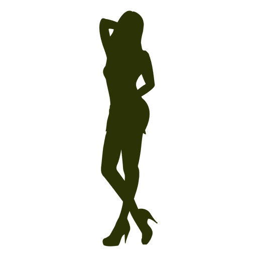 Hot fashion girl silhouette Transparent PNG