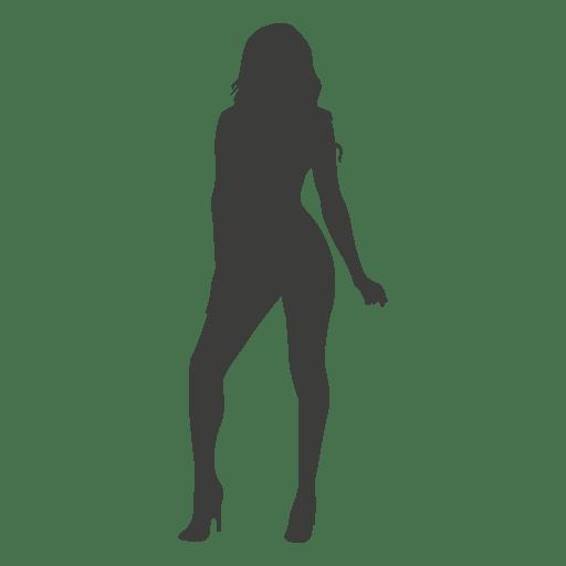 Silhueta feminina quente Transparent PNG