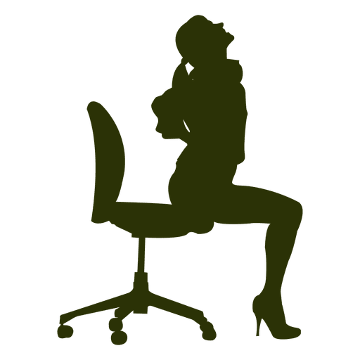 Hot girl posing silhouette Transparent PNG