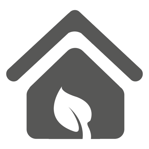 House with eco leaf icon Transparent PNG