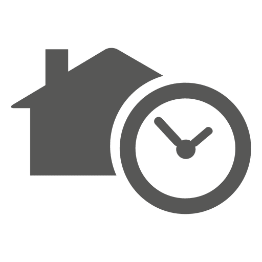 House with timer icon Transparent PNG