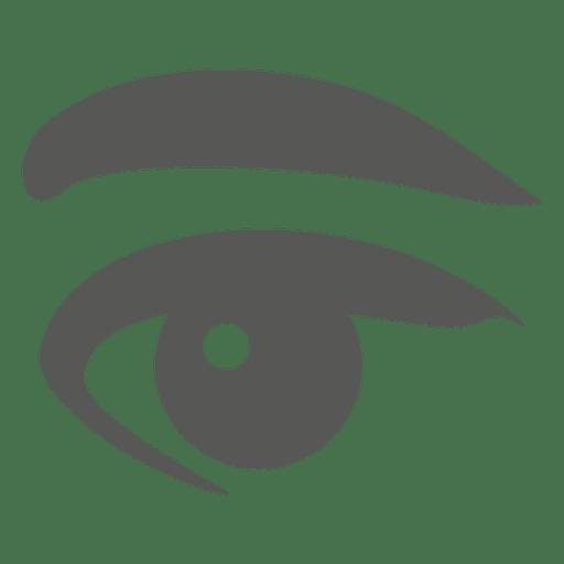 Icono del ojo humano Transparent PNG