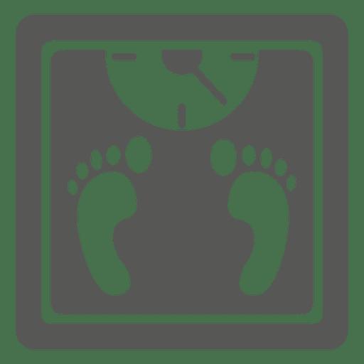Escala de peso humano iocn Transparent PNG