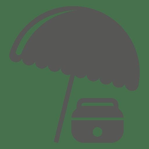 Icono de paraguas de caja de hielo