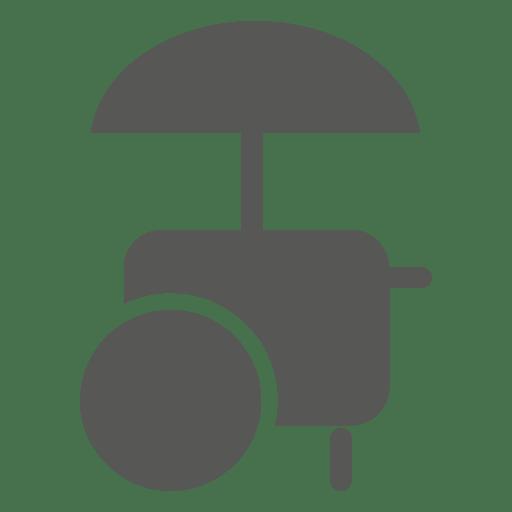 Ice cream cart silhouette