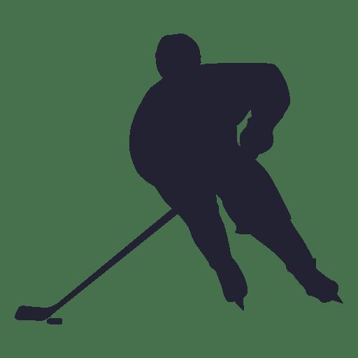 Silueta de jugador de Hokey de hielo