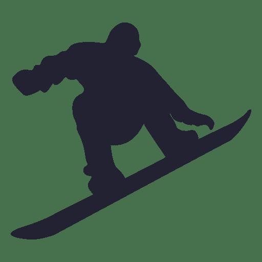 Silueta de jugador de patinaje sobre hielo Transparent PNG