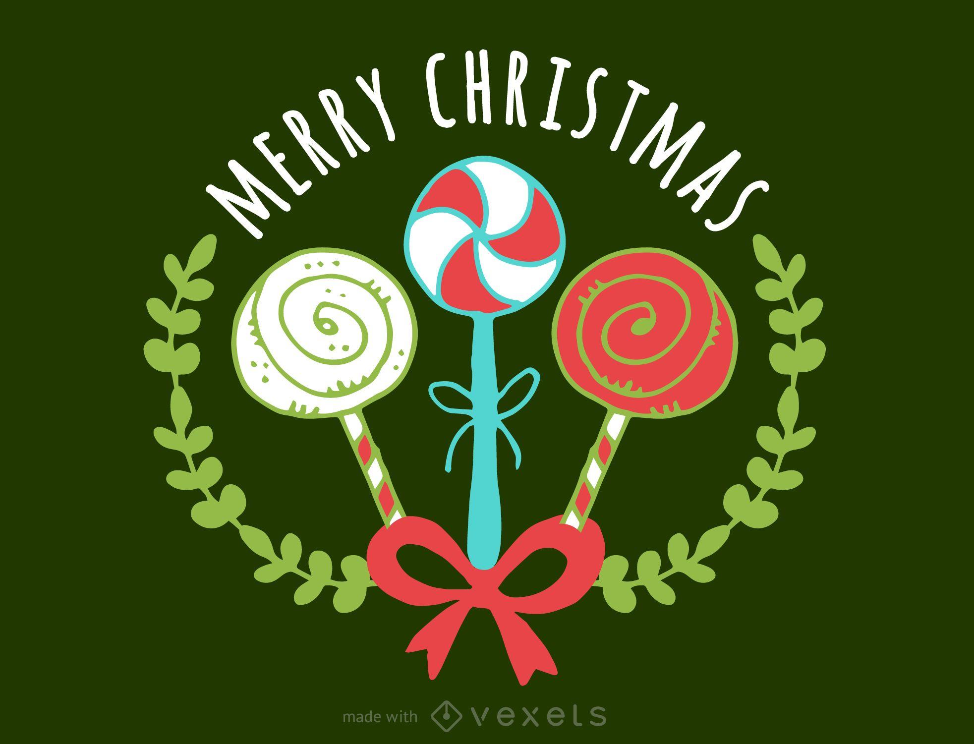 Feliz Navidad creador de insignias
