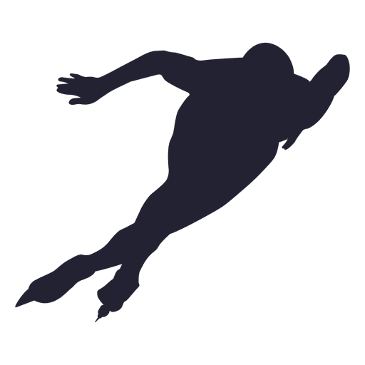 Ice skating player silhouette skating Transparent PNG