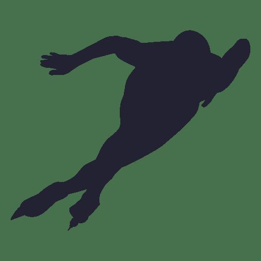 Patinaje sobre hielo jugador patinaje de silueta Transparent PNG