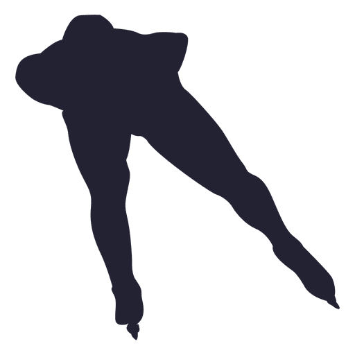 Ice skating pose silhouette Transparent PNG