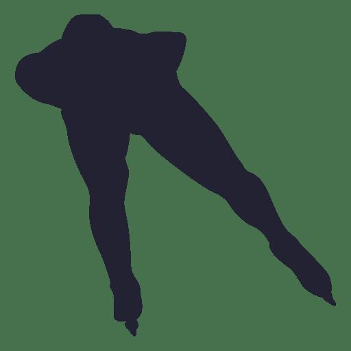 Patinaje sobre hielo pose silueta Transparent PNG