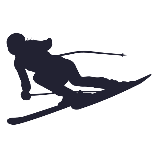 Ice ski player silhouette Transparent PNG