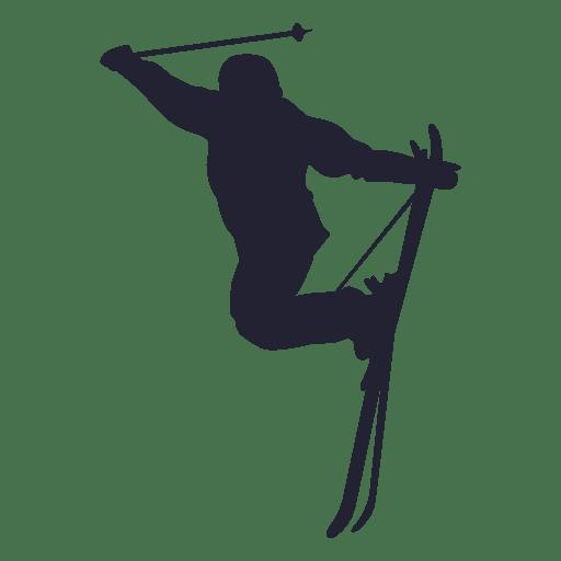 Silueta de deporte de esqu? sobre hielo
