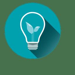 Icono de círculo de idea bubl