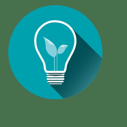 Idea bubl circle icon