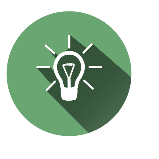 Idea Bulb Circle Icon 6 Transparent PNG