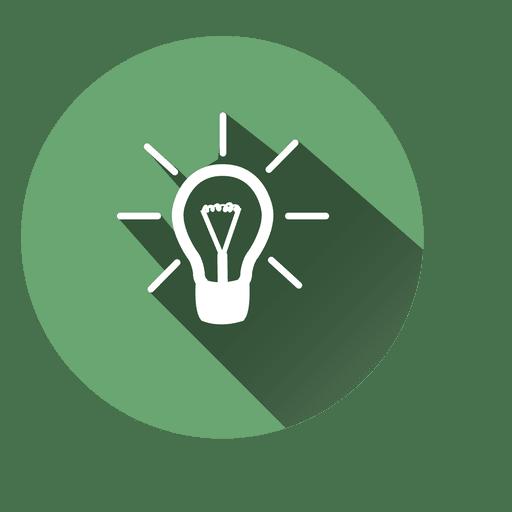 Idea bulb circle icon 6