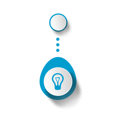 Infográfico elíptico de lâmpada de ideia