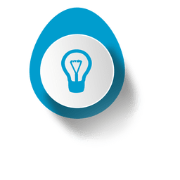 Idea bulb elliptical sticker