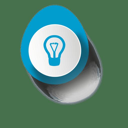 Idea bulb elliptical sticker