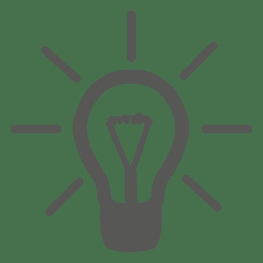 Gray idea bulb icon Transparent PNG