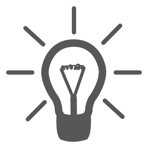 Icono de bombilla gris idea Transparent PNG