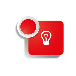 Icono de idea pegatina cuadrada
