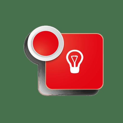 Idea icon square sticker