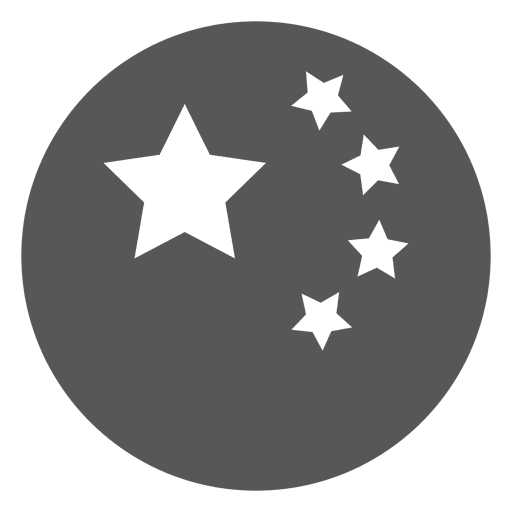 Japanese ball with stars icon Transparent PNG