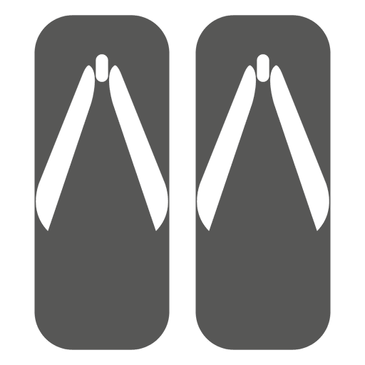 Japanese wooden sandals icon Transparent PNG