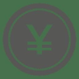 Icono de moneda yen japonés