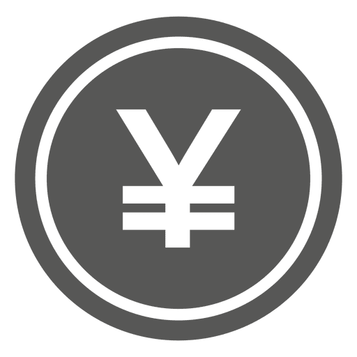 Japanese yen coin icon Transparent PNG