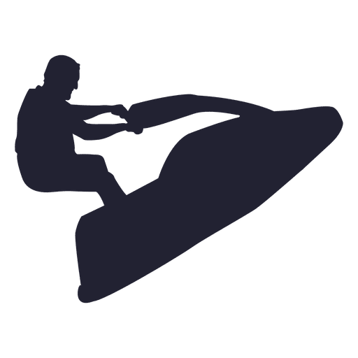 Jet skiing sport silhouette Transparent PNG