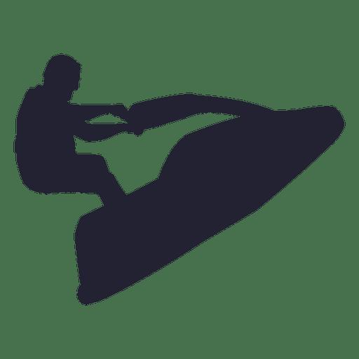 Silueta de deporte de jet ski