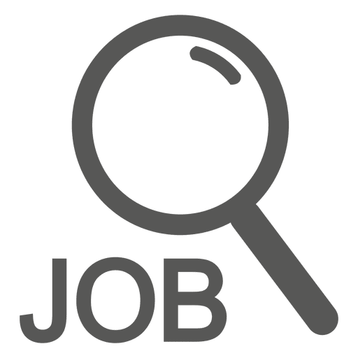 Job magnifier icon - Transparent PNG & SVG vector