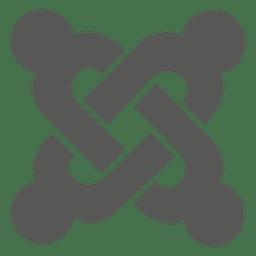 Icono plano de joomla