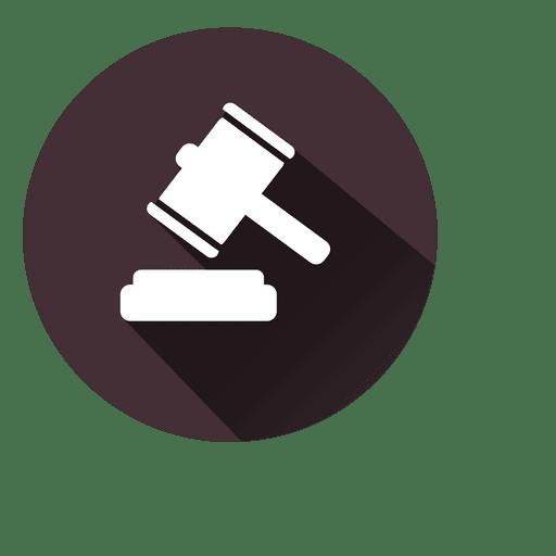 Judge hammer circle icon