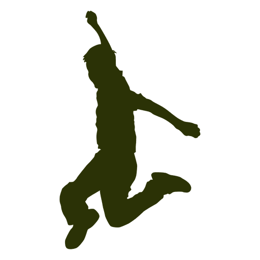 Jumping Boy Silhouette Transparent Png Amp Svg Vector