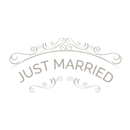 Gerade verheiratetes Ornate-Abzeichen 6