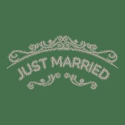 Insignia recién casada adornada 6