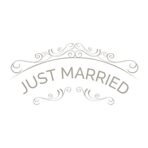 Just married ornate badge 6 Transparent PNG