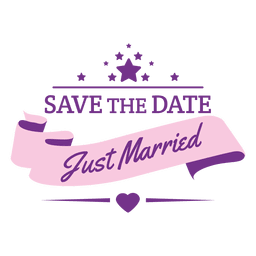 Just married wedding badge