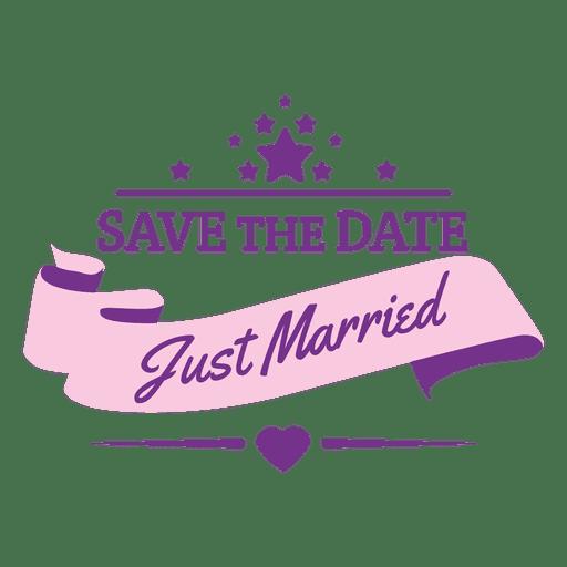 Just married wedding badge Transparent PNG