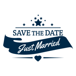 Just married wedding badge 5