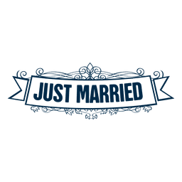 Just married wedding label 4