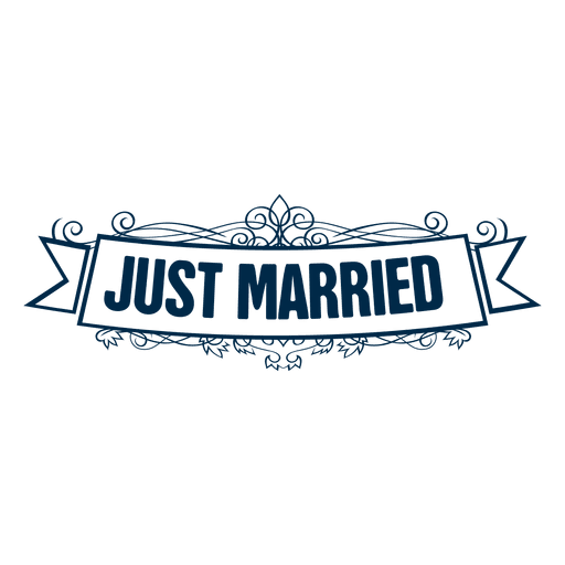 Just married wedding label 4 Transparent PNG