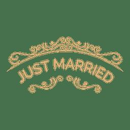 Apenas casado etiqueta do casamento 5
