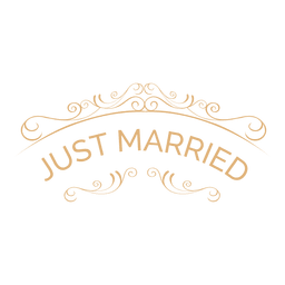 Just married wedding label 5
