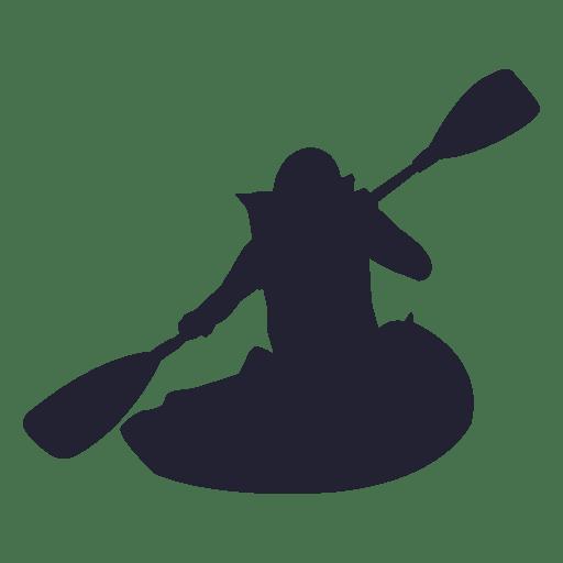 Kayak sport silhouette 3 Transparent PNG